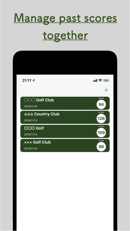 Golf Score Count