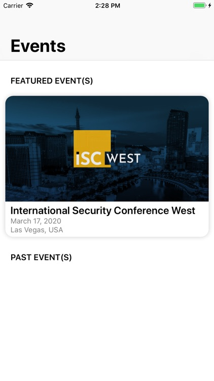 ISC Events