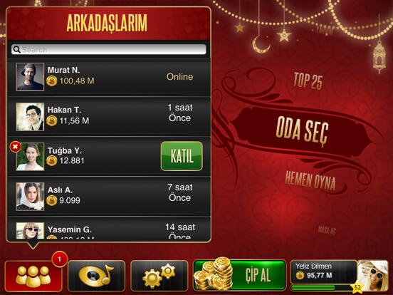Okey Plus HD ipad ekran görüntüleri
