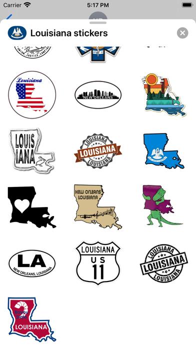 Louisiana emojis - USA sticker screenshot 4