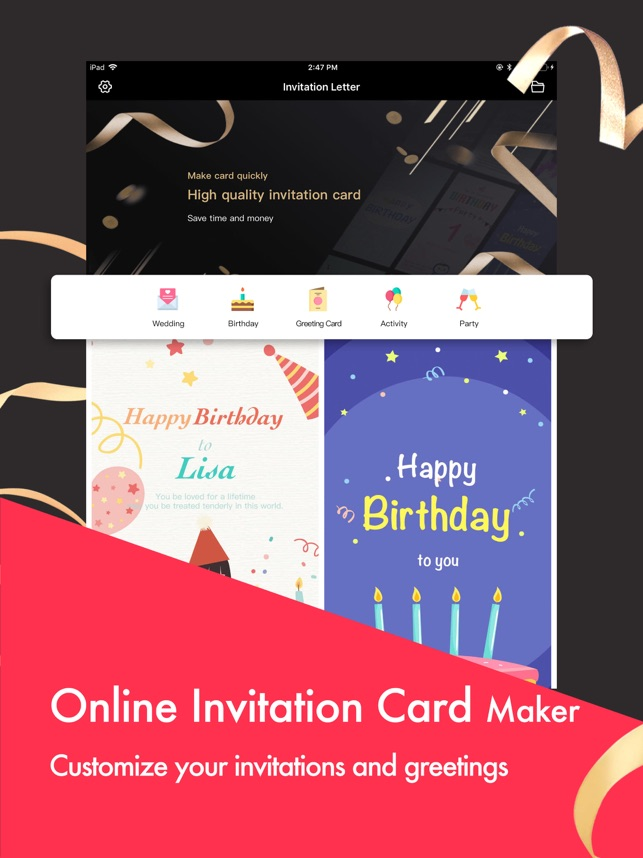 Party Invitation Cards Maker on the App Store