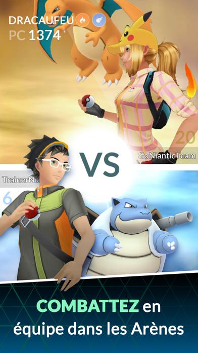 Pokémon GO iphone captures décran