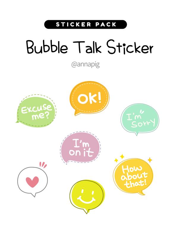 Bubble Talk Sticker screenshot 4