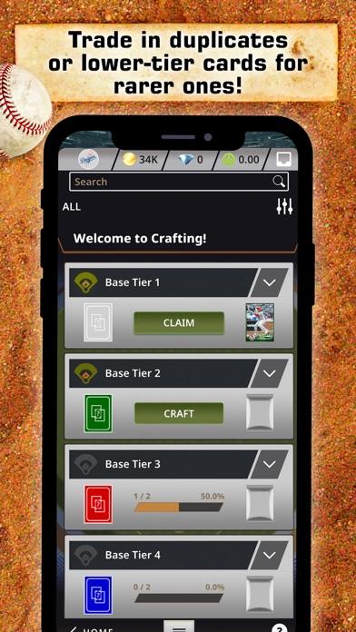 MLB BUNT Baseball Card Trader Screenshot