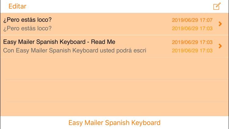 Easy Mailer Spanish Keyboard screenshot-3