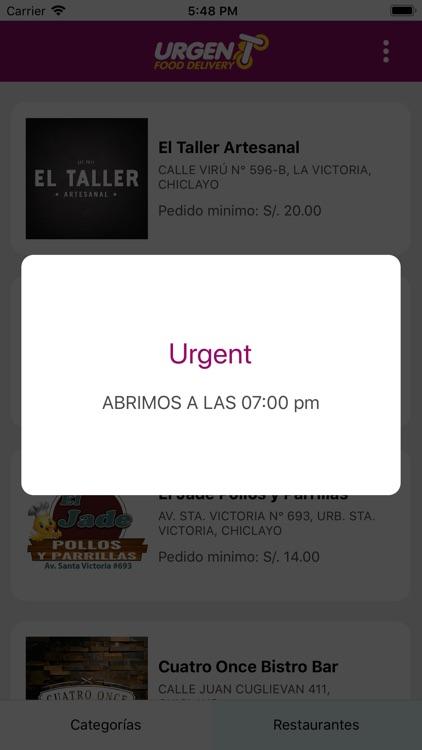 Urgent Food Delivery screenshot-4