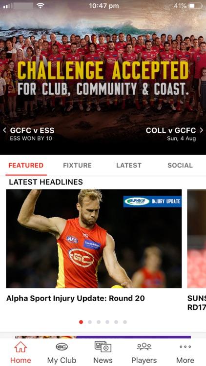 Gold Coast SUNS Official App