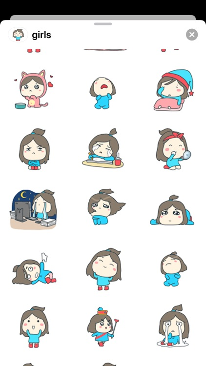 Girl-Stickers