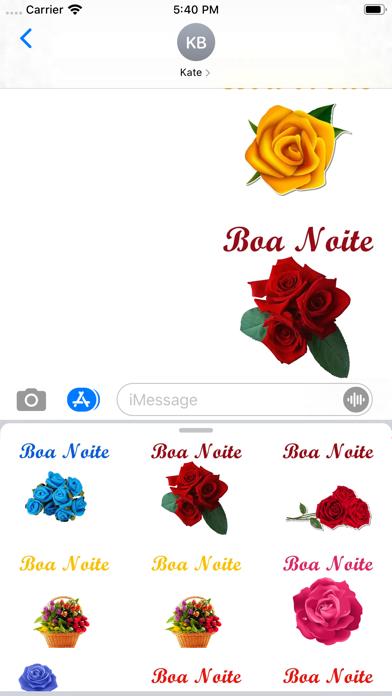 Figurinhas de Boa noite Flores screenshot 8