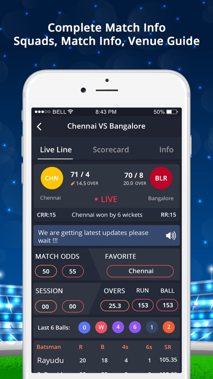 LineGuru : Cricket Live Line screenshot-2