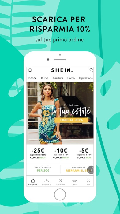 Screenshot for SHEIN - Moda e shopping in Italy App Store