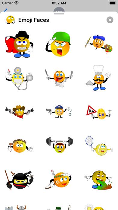 Emoji Faces Sticker Pack screenshot 8