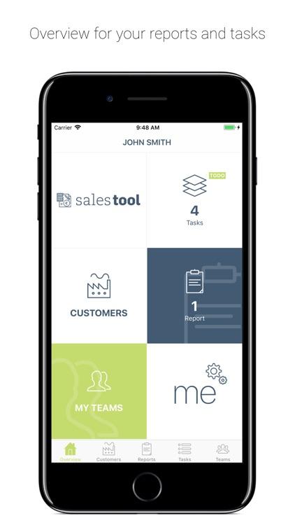 SalesTool report – sales rep screenshot-0