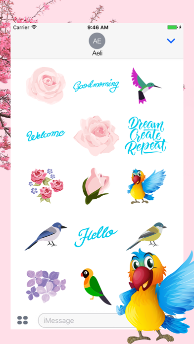 Vintage Watercolor Stickers screenshot one