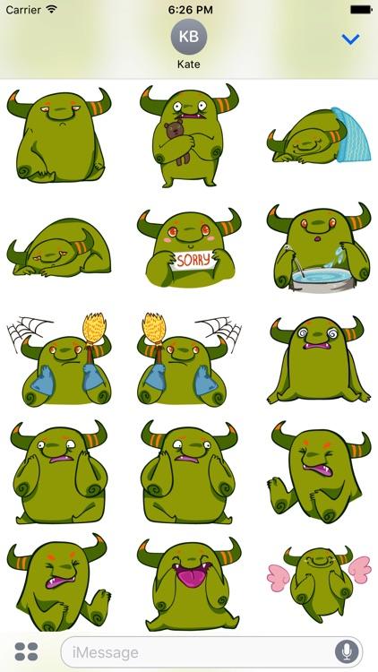 Marvin the Ogre emojies!