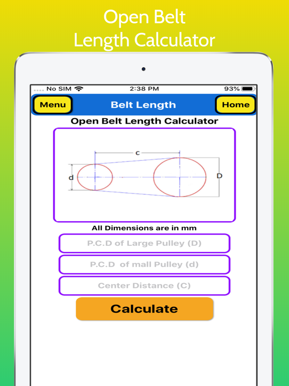 Belt Length Calculator Pro screenshot 10