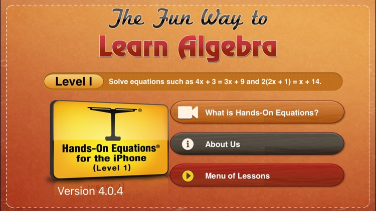 Hands-On Equations 1