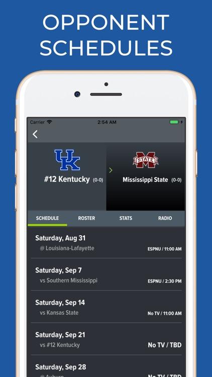 Kentucky Football Schedules screenshot-5
