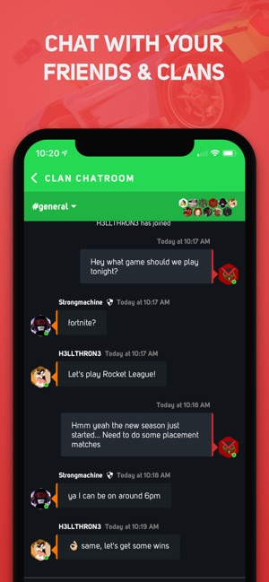 GamerLink - LFG & Clan Chat! on the App Store