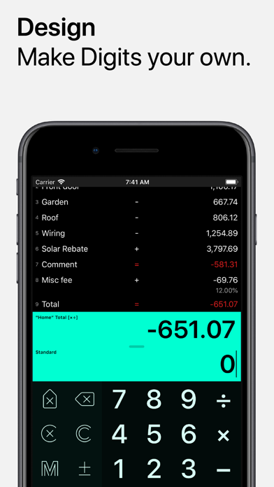 Digits Tape Calculator review screenshots