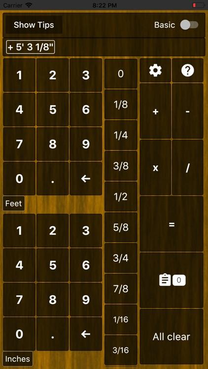 Feet and Inches Calculator screenshot-5
