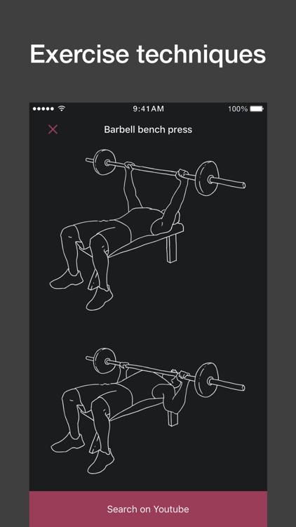 Gym workout planner, tracker
