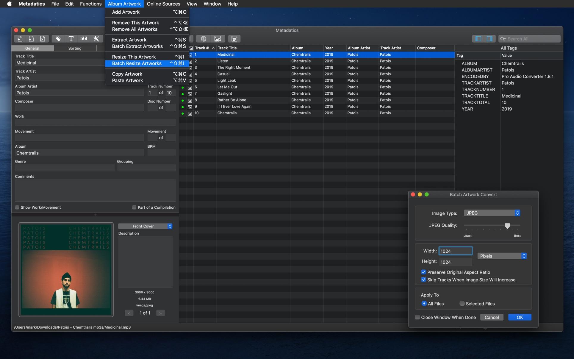 Metadatics 1.6.5 Mac 破解版 音频元数据编辑器