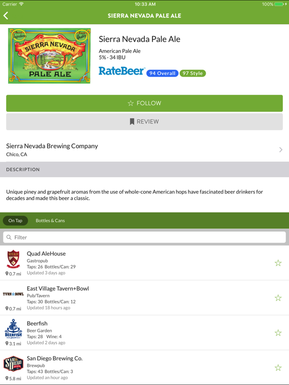 TapHunter - The Craft Beer Finder screenshot