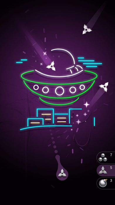 Screenshot for Hit the Light - Neon Shooter in United States App Store