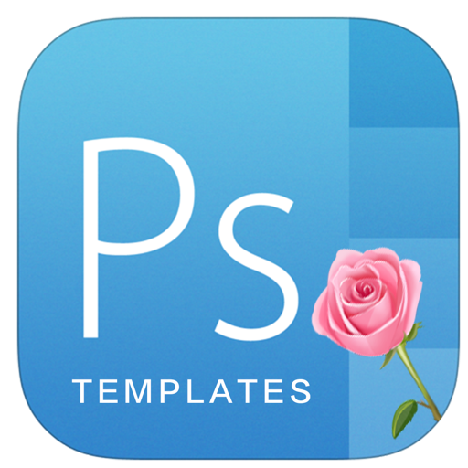 Flower for psd templates