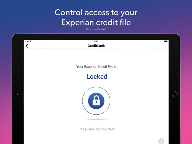 How to lock my experian credit report