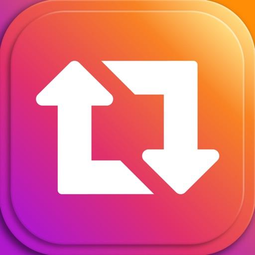 Repost+ for Instagram . iOS App