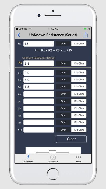 Electrical Calculator screenshot-7