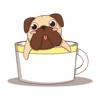 Cute sweet bull dog sticker