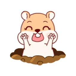Baby Hamster Animated Stickers
