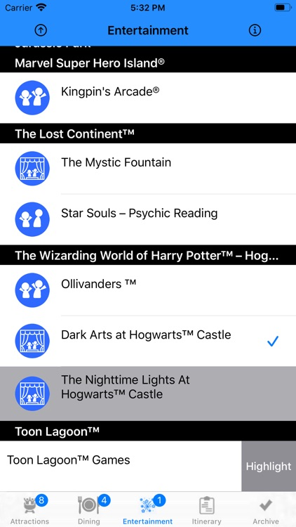 Theme Park Checklist: Orlando
