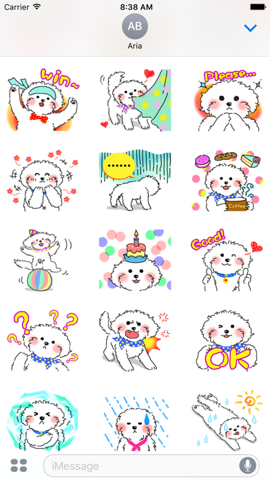 Cute Maltese Puppy Sticker screenshot 3
