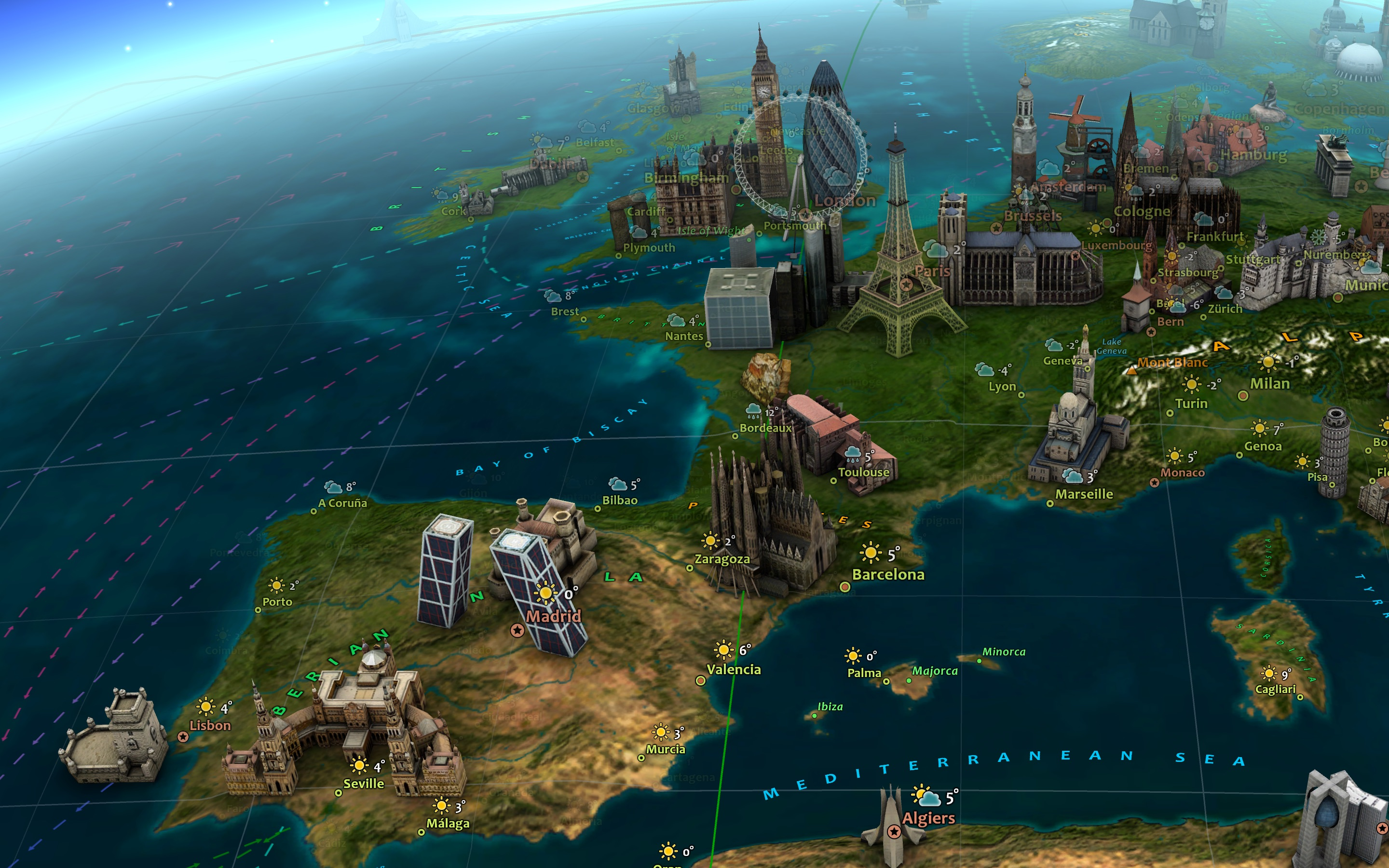 Screenshot do app Earth 3D
