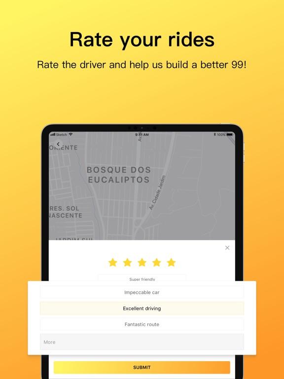 99Taxis - Taxi pelo celular screenshot