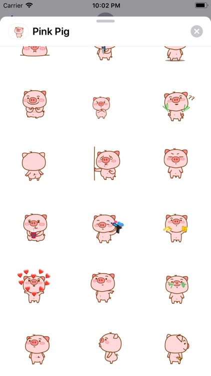 Lovely Pig Animated Stickers screenshot-3