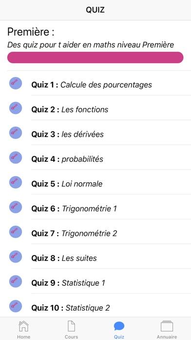 Maths Première S screenshot 5
