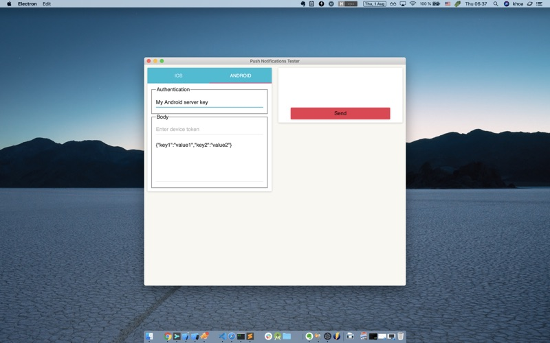 Push Notification Tester for Mac