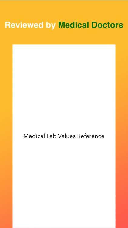 Medical Lab Values Reference