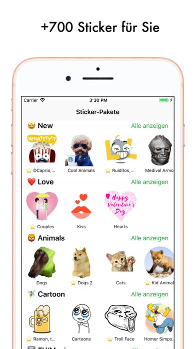 Screenshot for Spitzen Stickern Sticker Maker in Switzerland App Store
