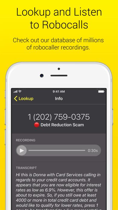 Nomorobo Robocall Blocking Screenshot