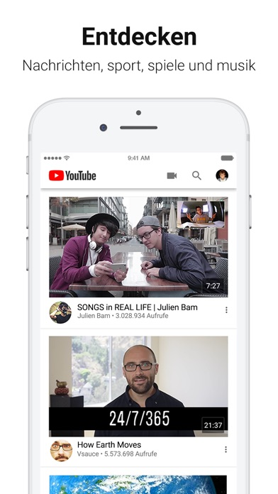 Screenshot for YouTube in Switzerland App Store