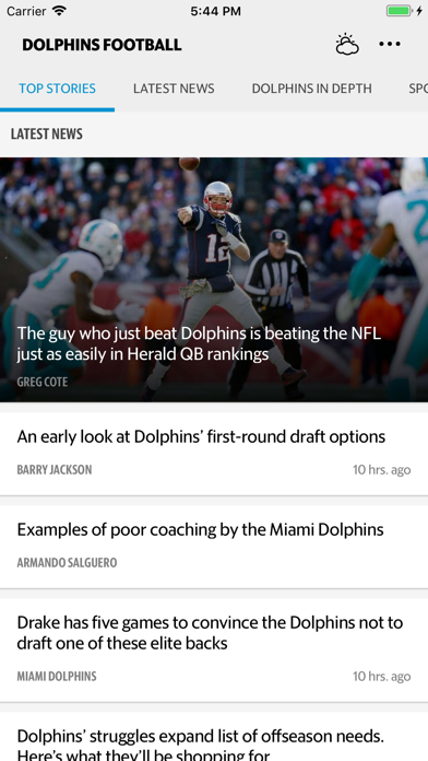 News for Dolphins Football screenshot one