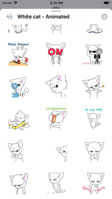 White cat - Animated screenshot 2