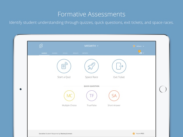 Socrative Teacher Screenshot