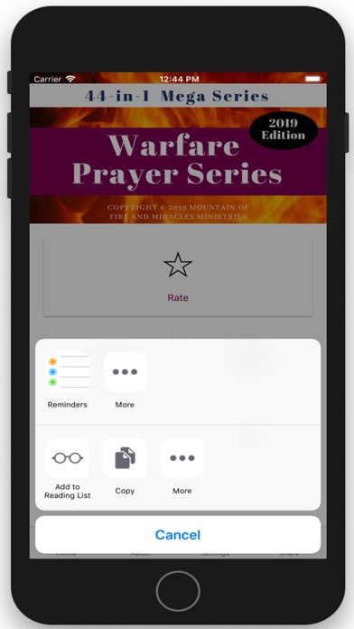 44 in 1 Warfare Prayer Series App Data & Review - Reference